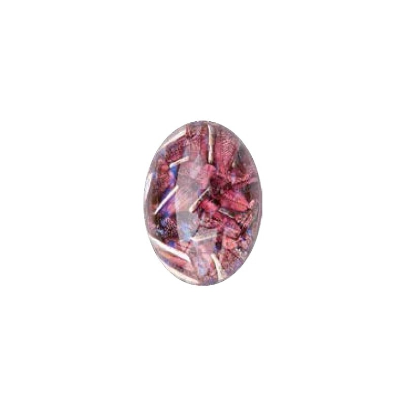 25x18mm Opaal Ruby 02998 with Foiling 416-12-564 Cabochons Preciosa