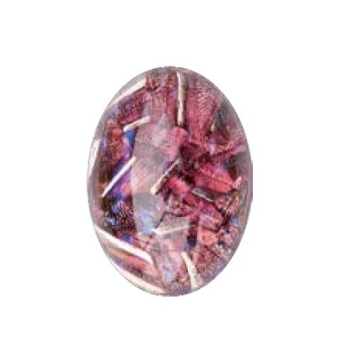 25x18mm Opal Ruby 02998 with Foiling 416-12-564 Cabochons Preciosa
