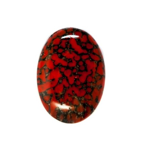 25x18mm Matrix with Avanturine 03270 416-12-020 Cabochons Preciosa