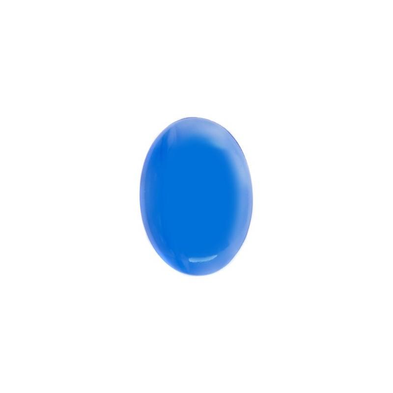 25x18mm Sapphire 00563 Silky Кабошон 416-12-020 Прециоса