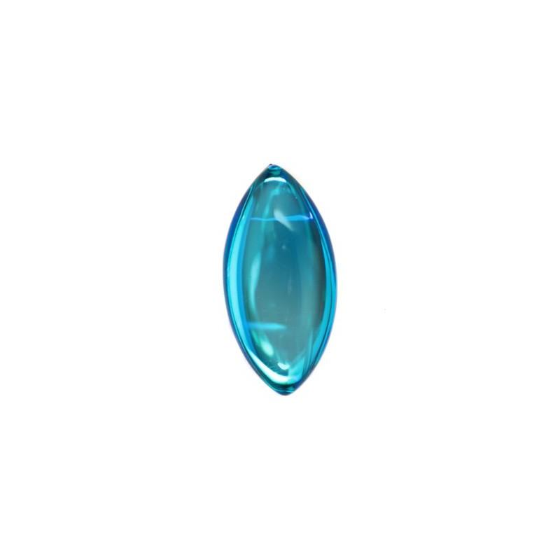 20x10mm Bermuda Blue 00030/29636 Navette Cabochons 417-14-030 Preciosa