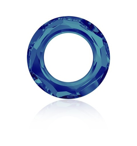 14mm Crystal Bermuda Blue (001 BB) Cosmic Ring Fancy Stone 4139 Swarovski Elements