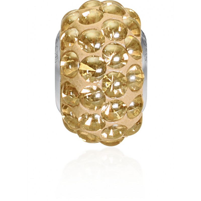 15.5mm Crystal Golden Shadow (001 GSHA) 80501 BeCharmed Pavé Cabochon Helmed Swarovski Elements