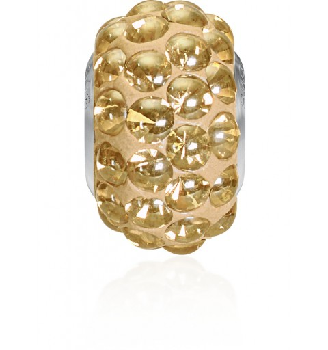 15.5mm Crystal Golden Shadow (001 GSHA) 80501 BeCharmed Pavé Cabochon Bead Swarovski Elements
