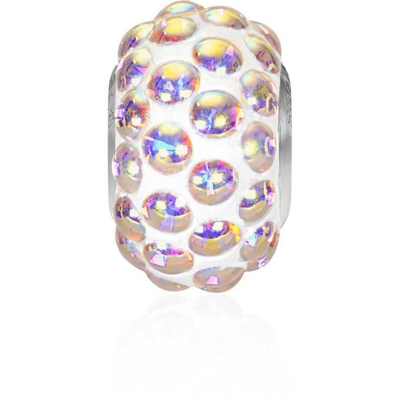 15.5mm Crystal AB (001 AB) 80501 BeCharmed Pavé Cabochon Bead Swarovski Elements