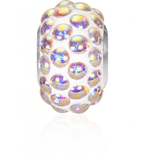 15.5mm Crystal AB (001 AB) 80501 BeCharmed Pavé Cabochon Helmed Swarovski Elements