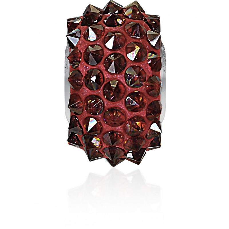 16mm Crystal Red Magma (001 REDM) 80401 BeCharmed Pavé Spikes Bead Swarovski Elements