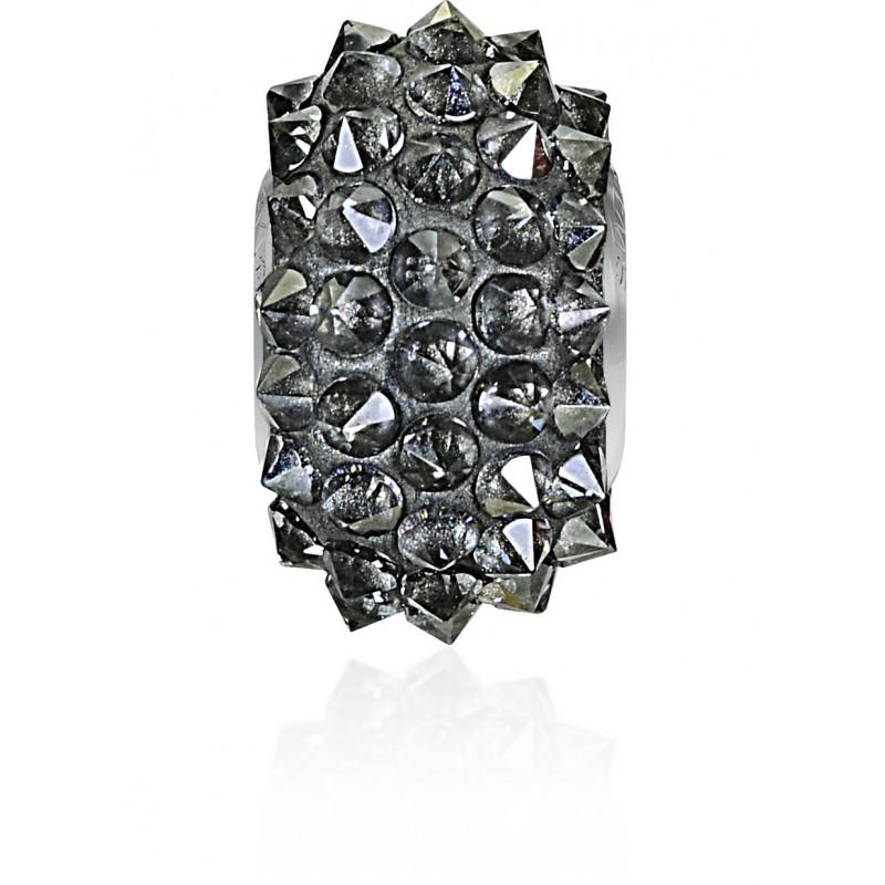 16mm Crystal Silver Shade (001 SSHA) 80401 BeCharmed Pavé Spikes Bead Swarovski Elements