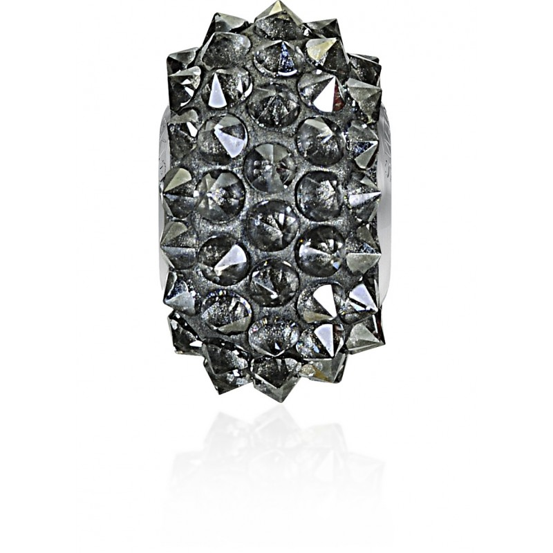 16mm Crystal Silver Shade (001 SSHA) 80401 BeCharmed Pavé Spikes Bead Swarovski Elements