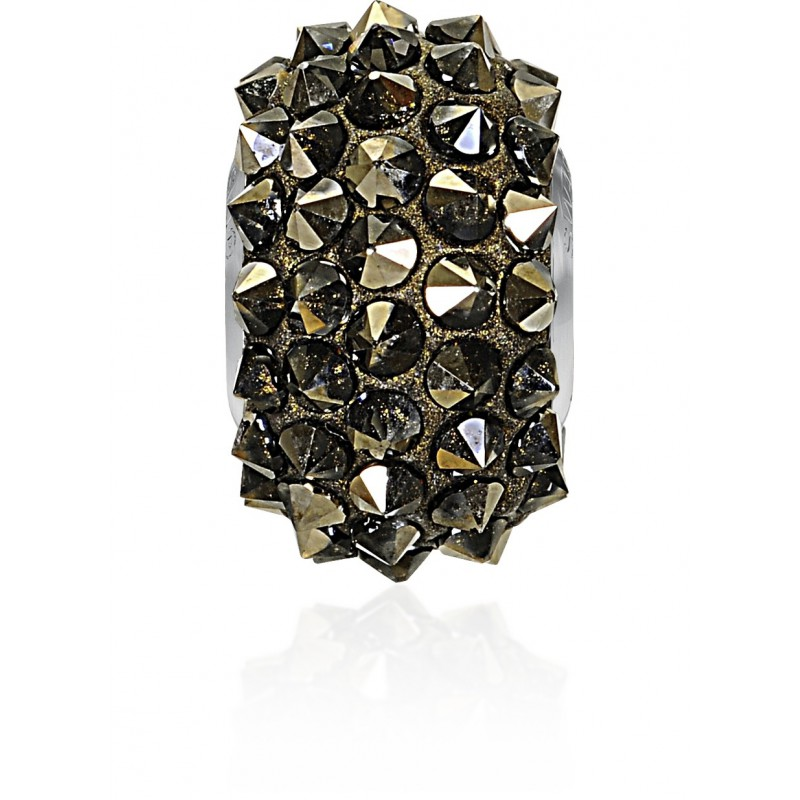 16mm Crystal Metallic Light Gold (001 MLGLD) 80401 BeCharmed Pavé Spikes Bead Swarovski Elements
