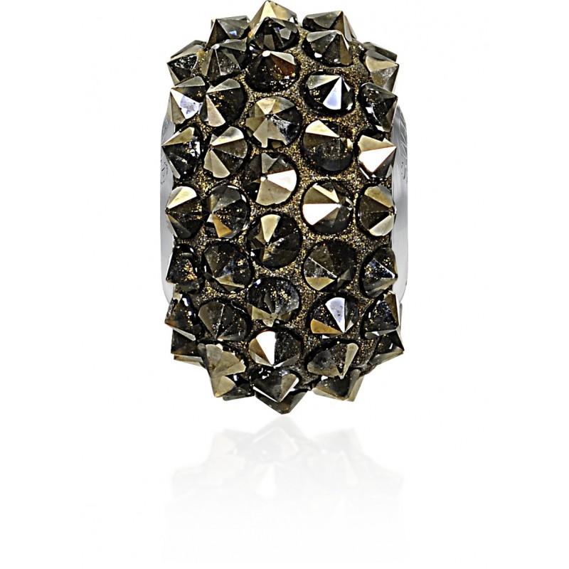16mm Crystal Metallic Light Gold (001 MLGLD) 80401 BeCharmed Pavé Spikes Helmed Swarovski Elements