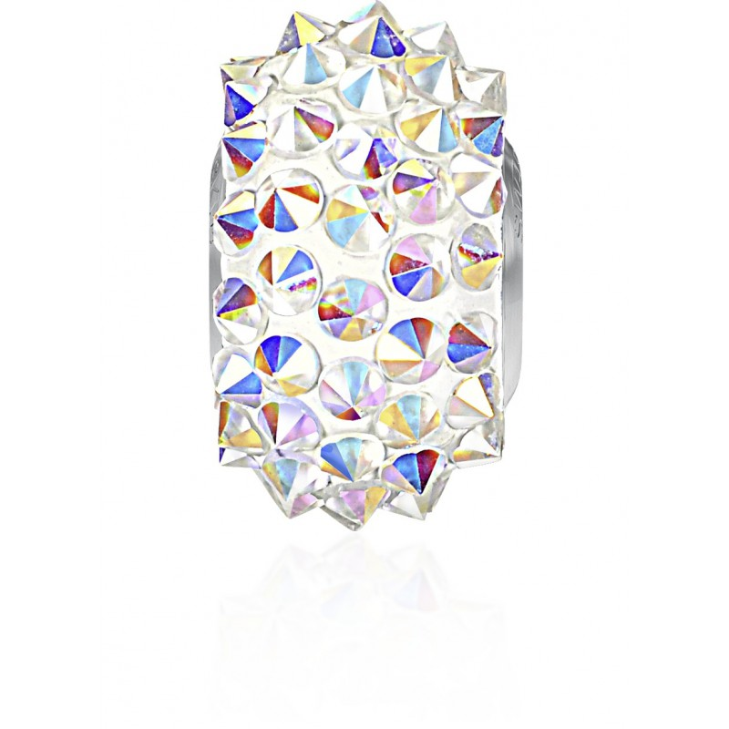 16mm Crystal AB (001 AB) 80401 BeCharmed Pavé Spikes Bead Swarovski Elements