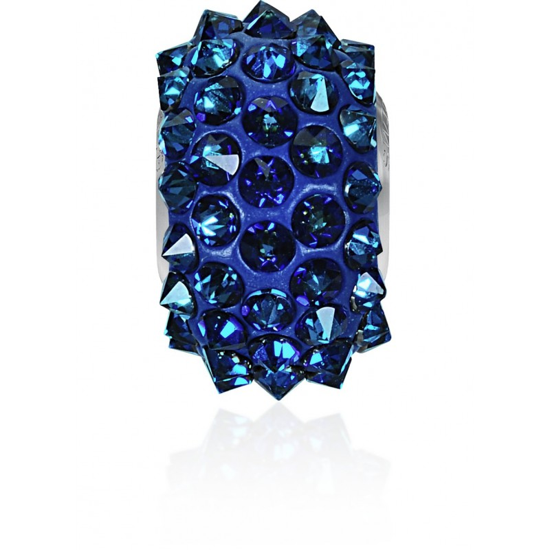 16mm Crystal Bermuda Blue (001 BBL) 80401 BeCharmed Pavé Spikes Bead Swarovski Elements