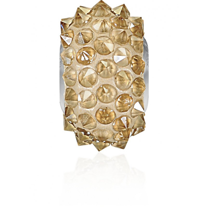 16mm Crystal Golden Shadow (001 GSHA) 80401 BeCharmed Pavé Spikes Bead Swarovski Elements