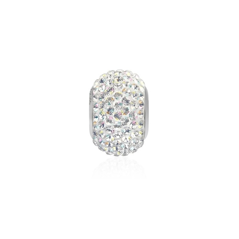 14mm Crystal AB (001 AB) 80101 BeCharmed Pavé Bead Swarovski Elements