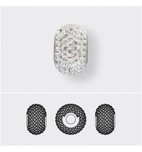14mm Crystal AB (001 AB) 80101 BeCharmed Pavé Bead Swarovski Elements