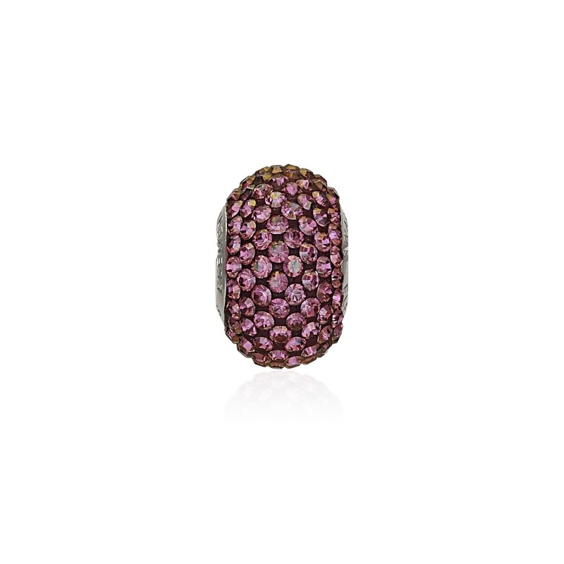 14mm Crystal Lilac Shadow (001 LISH) 80101 BeCharmed Pavé Bead Swarovski Elements