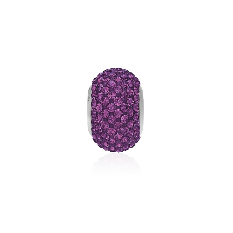 14mm Amethyst (204) 80101 BeCharmed Pavé Helmed Swarovski Elements
