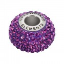 14mm Amethyst (204) 80101 BeCharmed Pavé Bead Swarovski Elements