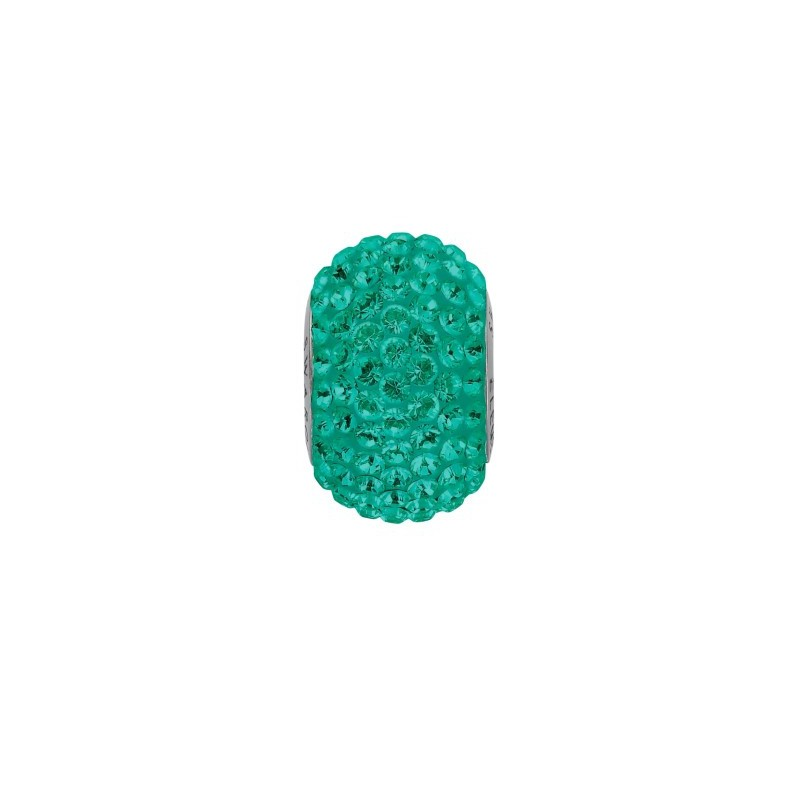 14mm Emerald (205) 80101 BeCharmed Pavé Bead Swarovski Elements