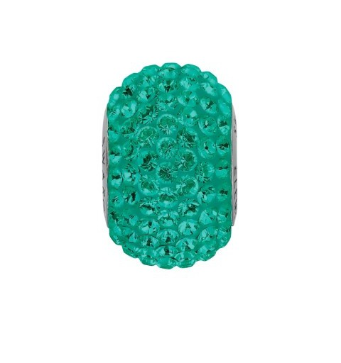 14mm Emerald (205) 80101 BeCharmed Pavé Helmed Swarovski Elements
