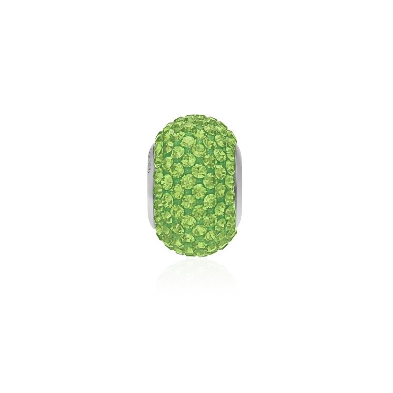 14mm Peridot (214) 80101 BeCharmed Pavé Bead Swarovski Elements