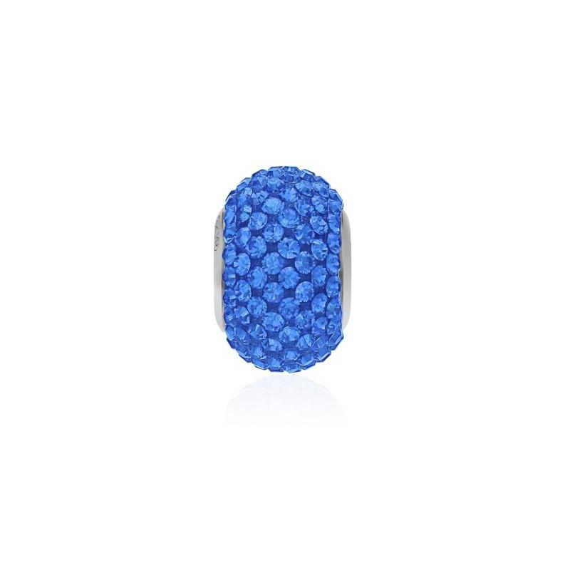14mm Sapphire (206) 80101 BeCharmed Pavé Bead Swarovski Elements