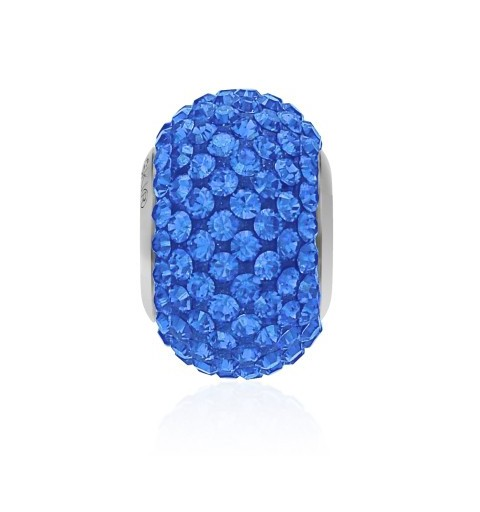14mm Sapphire (206) 80101 BeCharmed Pavé Bead Swarovski Elements