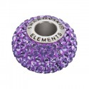14mm Tanzanite (539) 80101 BeCharmed Pavé Bead Swarovski Elements