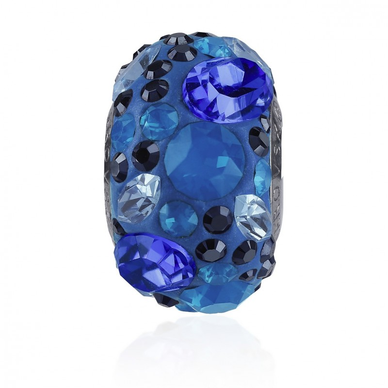 14mm Aquamarine (202) 81304 BeCharmed Pavé Medley Bead Swarovski Elements
