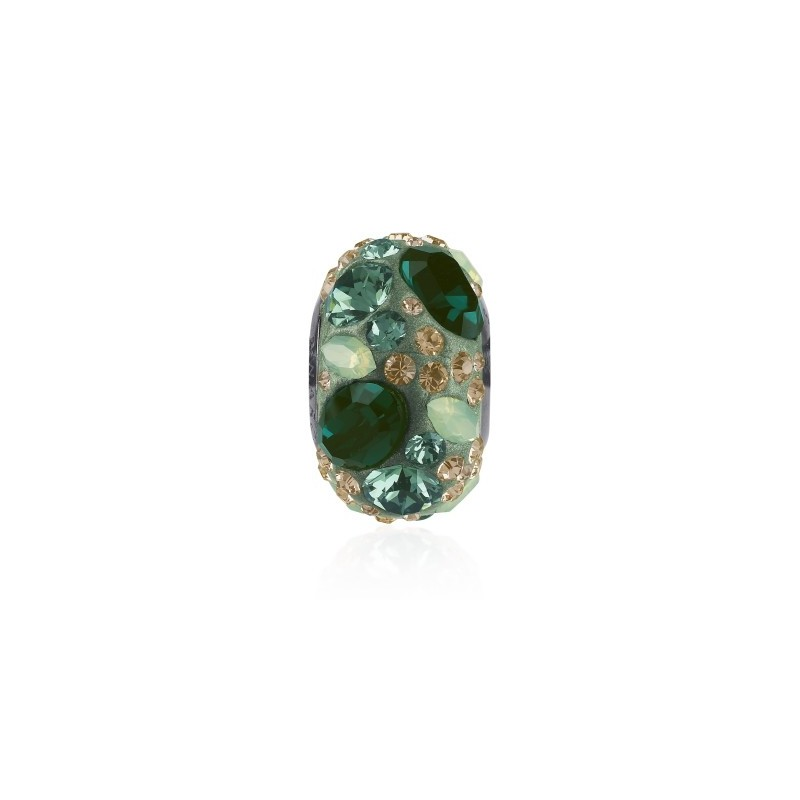 14mm Emerald (205) 81304 BeCharmed Pavé Medley Bead Swarovski Elements
