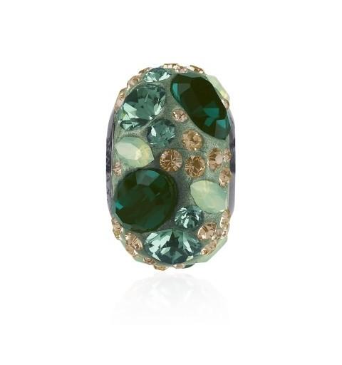 14mm Emerald (205) 81304 BeCharmed Pavé Medley Bead Swarovski Elements