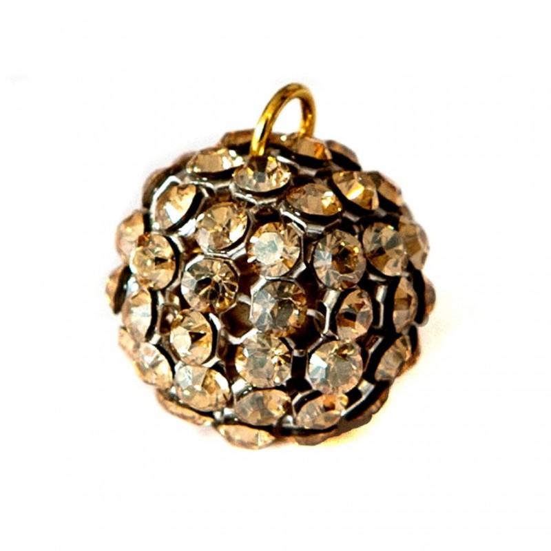 40515 15MM CRYSTAL GOLDEN SHADOW CRYSTAL MESH BALL 1 RING