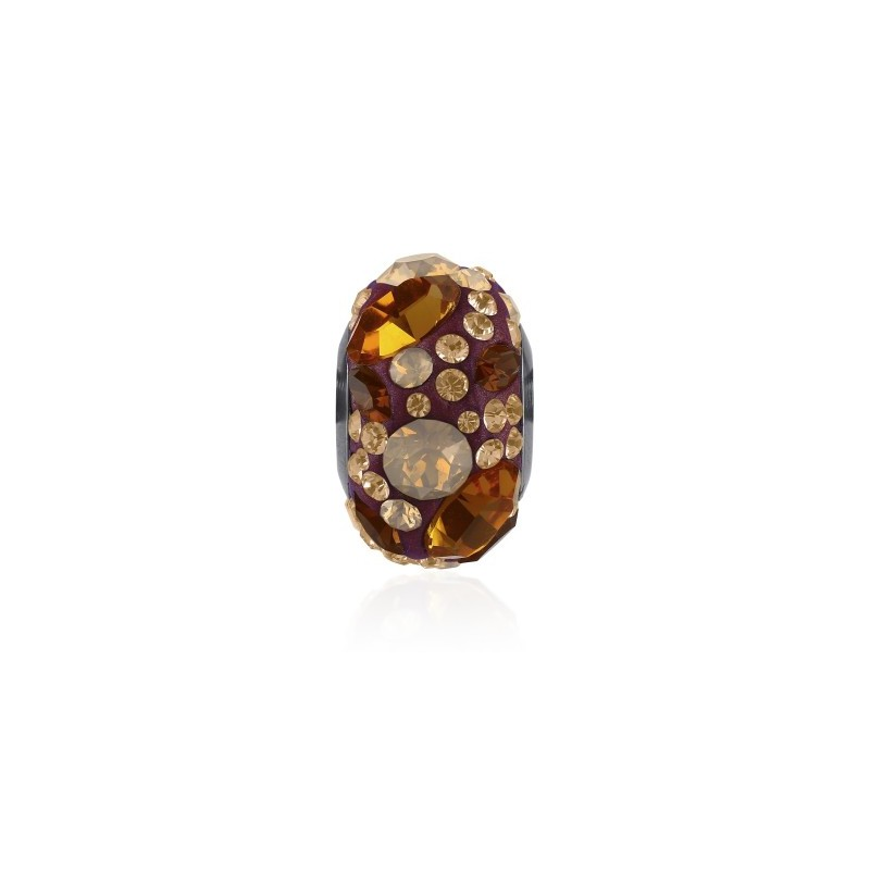 14mm Topaz (203) 81304 BeCharmed Pavé Medley Bead Swarovski Elements