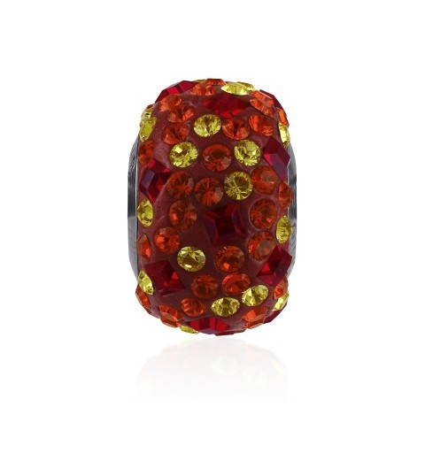 14mm Light Siam (227) 81403 Crystal BeCharmed Pavé Medley Bead Swarovski Elements