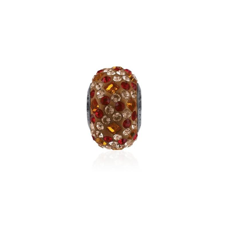 14mm Tangerine (259) 81403 Crystal BeCharmed Pavé Medley Bead Swarovski Elements