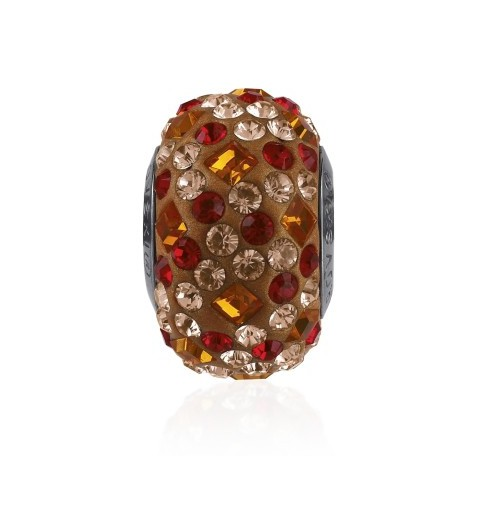 14mm Tangerine (259) 81403 Crystal BeCharmed Pavé Medley Bead Swarovski Elements