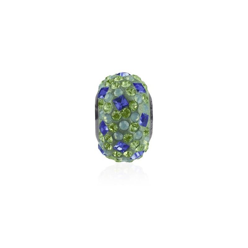 14mm Sapphire (206) 81403 Crystal BeCharmed Pavé Medley Bead Swarovski Elements