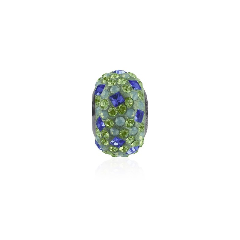 14mm Sapphire (206) 81403 Crystal BeCharmed Pavé Medley Bead Swarovski Elements