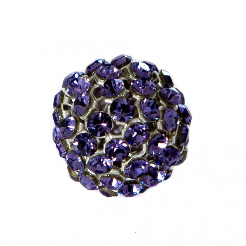 40515 15MM TANZANITE CRYSTAL MESH BALL 0 RING