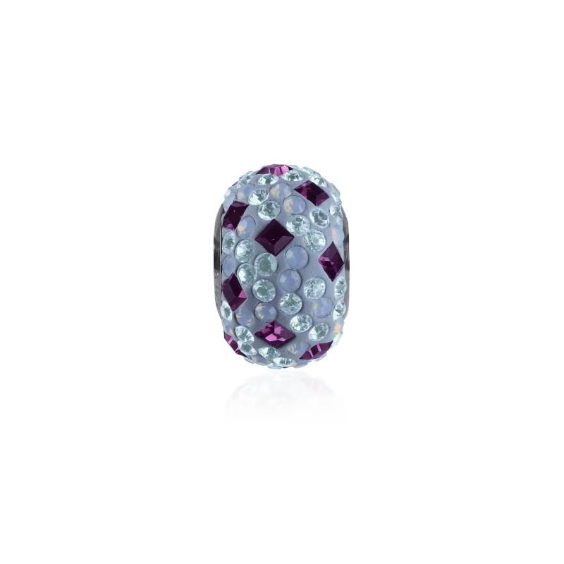14mm Amethyst (204) 81403 Crystal BeCharmed Pavé Medley Bead Swarovski Elements