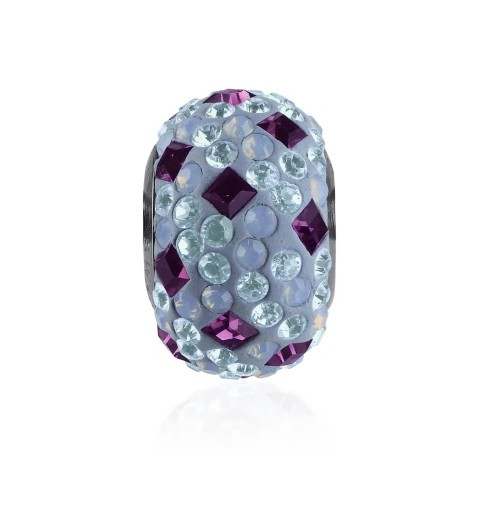 14mm Amethyst (204) 81403 Crystal BeCharmed Pavé Medley Bead Swarovski Elements