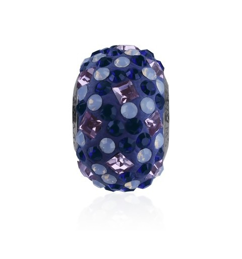 14mm Light Amethyst (212) 81403 Crystal BeCharmed Pavé Medley Bead Swarovski Elements