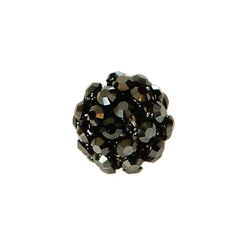 40512 12MM JET HEMATITE CRYSTAL MESH BALL 0 RING