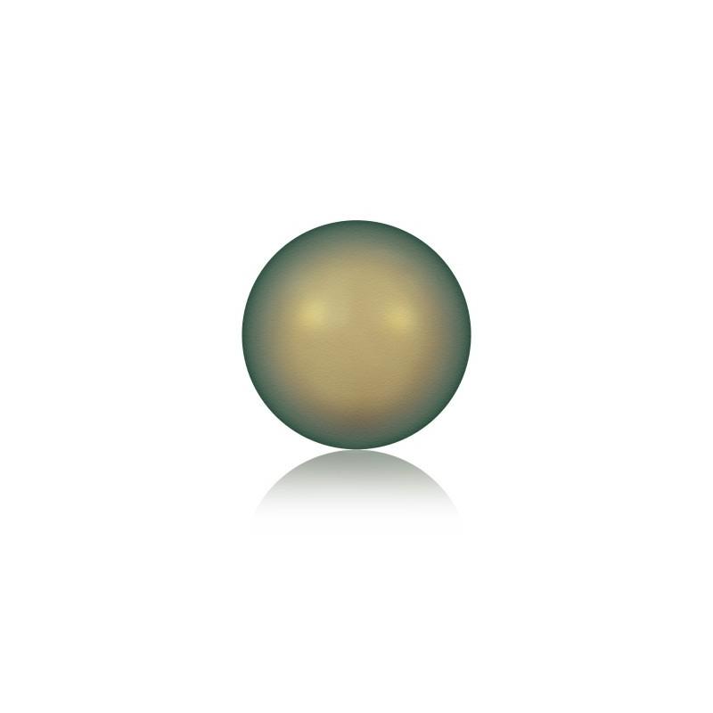 6MM Crystal Iridescent Green Round Half Drilled Pearl (001 930) 5818 SWAROVSKI ELEMENTS