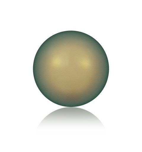 8MM Crystal Iridescent Green Round Half Drilled Pearl (001 930) 5818 SWAROVSKI ELEMENTS