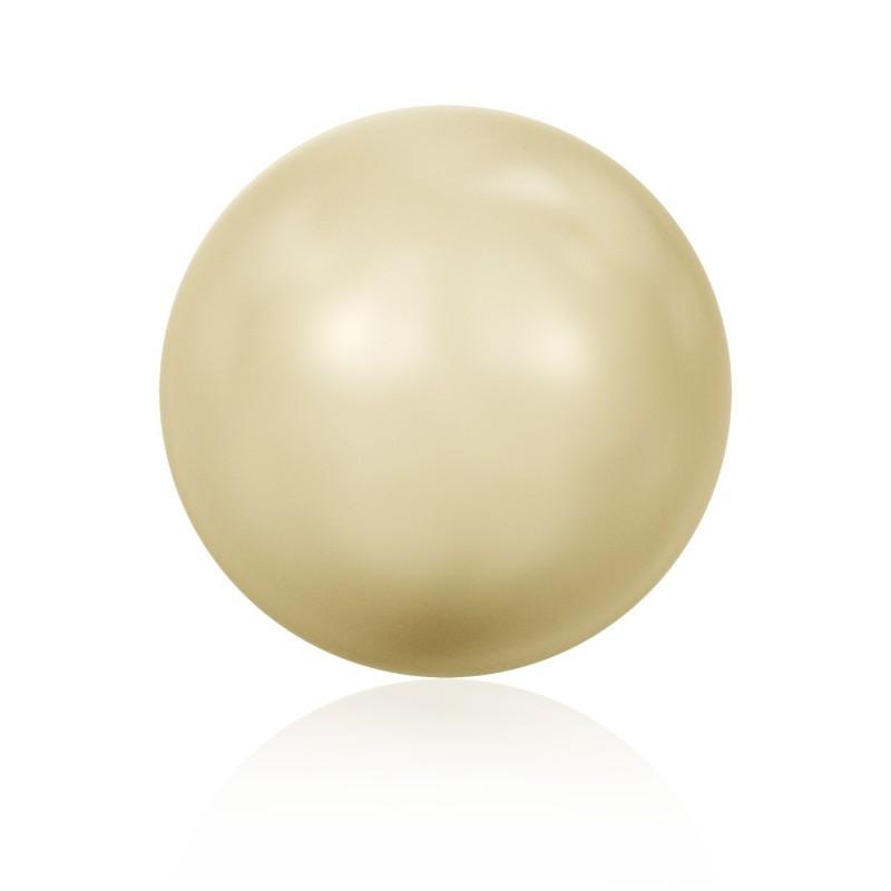 6MM Crystal Light Gold Round Half Drilled Pearl (001 539) 5818 SWAROVSKI ELEMENTS
