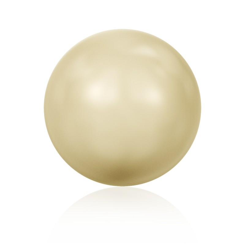 6MM Crystal Light Gold Ümmargune Pool Puuritud Pärl (001 539) 5818 SWAROVSKI ELEMENTS