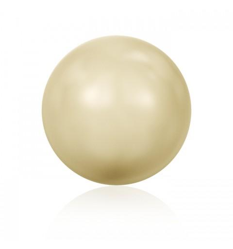 8MM Crystal Light Gold Ümmargune Pool Puuritud Pärl (001 539) 5818 SWAROVSKI ELEMENTS