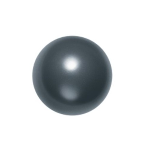 6MM Crystal Black Round Half Drilled Pearl (001 298) 5818 SWAROVSKI ELEMENTS
